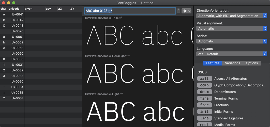 FontGoggles screenshot